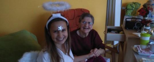 Seniory vDSS Meziboří navštívil anděl