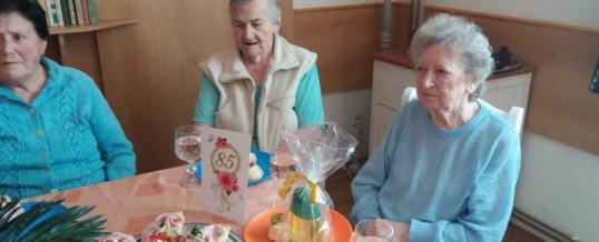 Oslava 85. narozenin paní Danuše Vackové
