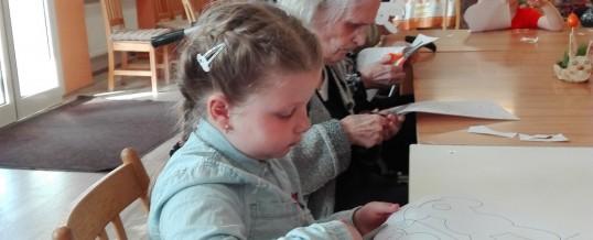 Velikonoční tvoření s dětmi z MŠ Kaštánek