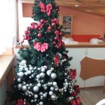 zpívání koled u vánočního stromku