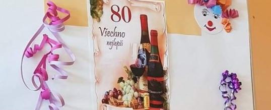Oslava 80. narozenin